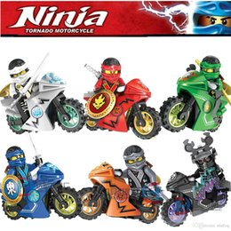 Wholesale Wholesale Ninja Motorcycle - Ninjago Minifigure & Motorcycle Phantom Ninja Cole Zane Kai Jay Lloyd Carmadon Building Bricks Blocks Minifigures Toys Decool 10017-10022