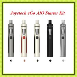 Wholesale Ego J - 100% Original J-oyetech eGo AIO Starter Kit Blak White Grey Cheapest Authtic Electronic Cigarette Kit VS SUBOX MIN-C Subvod mega kit