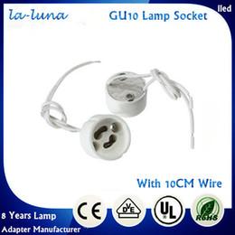 Wholesale Led Lamp Wire - 2016 Ceramic Special Offer Gu10 Light Bulb Lamp Base Socket Adapter Holder Porcelain Halogen Led Lampholder Gu 10 Connector Converter Wiring