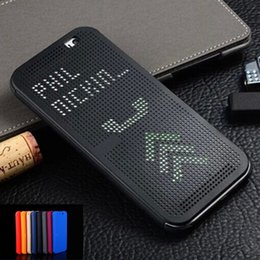 Wholesale Auto Dot - For HTC One M9 Plus Phone Cases Slim Dot Bag Smart Auto Sleep View Silicone Original Flip Cover For HTC One M9