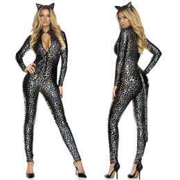 2b72af13ccd0 Free Shipping · fancy jumpsuits women Canada - Sexy Swashbuckler Catwoman  Wetlook Jumpsuit Catsuit Halloween Fancy Dress 89196