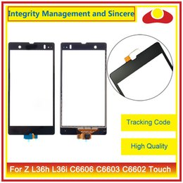 """Wholesale Xperia Z Panel - High Quality 5.0"""" For Sony Xperia Z L36h L36i C6606 C6603 C6602 Touch Screen Digitizer Sensor Front Glass Lens Panel Black"""