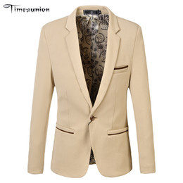 Wholesale Single Button Pea Coat - Wholesale-New suit men 4 colors casual jacket terno masculino latest coat designs blazers men clothing pea coats 3XL 4XL 5XL 6XL