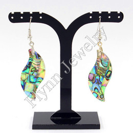 Wholesale Earrings Shells - New Fashion Charm Cross Natural Abalone Shell Drop Earrings Accessories Silver Plated Fashion Jewelry 10 Pairs