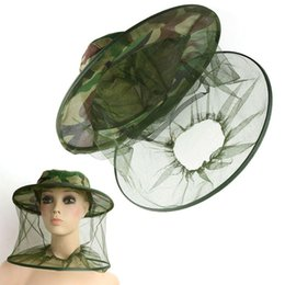 Wholesale Red Mosquito Insect - 1PC Bug Insect Bee Mosquito Fly Resistance Net Mesh Face Fishing Hunting Outdoor Camping Hiking Hat Protector Cap