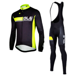 Wholesale Mens Bicycle Clothing Winter - 3 Styles ALE Team Men\'s Winter Cycling Jersey Set  Thermal Fleece Bicycle Clothing Mens Bicycle Clothing MTB Bike Clothes, Gel Pad .