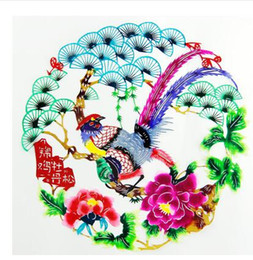 Wholesale Cut Diameter - HOt Diameter Multicolor Handmade Paper Cutting Hand Painted Paper-cut for Window Decoration Chinese traditional color paper cutting