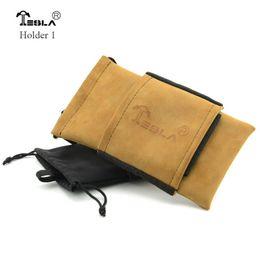 Wholesale Vaporizer Pouch - Tesla Bag Carring Pouch Box Portable Leather Carrry Case Black Brown Tesla Handbag Pocket Vape Holder for vaporizer box mechanical mod
