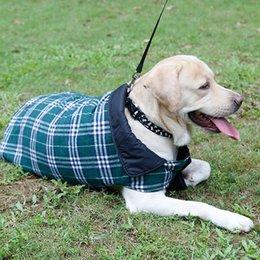 Wholesale Jumpsuit New Design - Dogs Jackets Pet Jumpsuit Waterproof Dual Sides Usable Lattice Pattern Design Durable Air Peameable Dogs Clothes 7 Sizes Available--M L