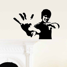 Wholesale Lees Decoration - Free Shipping Bruce Lee Vinyl Wall Art Decal Decor Quote Stickers Living Room Decoration Car Window Decor