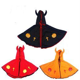 Wholesale Japanese Christmas Costume Girl - Kids Cosplay Children Costume Girl Boy Devil Horns Cape Cloak Halloween Christmas Makeup Masquerade Fantasy Christmas Masquerade halloween