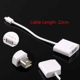 Wholesale Ipad Mini Vga Cable - Mini Displayport Display Port To VGA adapter Cable for Macbook PC M-VGA HS