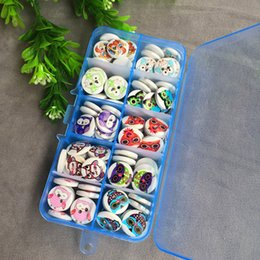 Wholesale Wooden Owl Buttons - free shipping mixed 100 pcs 10 owl styles 15mm 2-hole Dots and Stripes Printed Wooden button Sewing Scrapbooking Crafts accessory