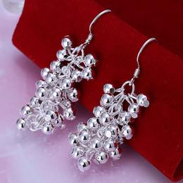 Wholesale Purple Garnet Silver Earrings - fashion jewelry For Women, 925 jewelry silver plated Earring Purple Bean Earrings E008  GLUXWCBEE008 RSUWRAJI