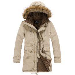 Wholesale Denim Jacket Men Thick Fur - Fall-Faux Fur Collar Men Coat M-3XL Full Cotton Thicken Winter Down Jacket New 2015 Fashion Mens Park Brand-clothing Jackets Men