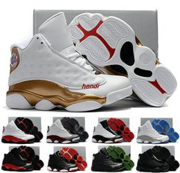 Wholesale Youth Basketball Shoes Cheap - Cheap Children Air Retro 13 XIII 13s Bred DMP Black Cat Kids Boys Youth Basketball Shoes Sneakers Retros jumpman 23 Trainers Shoes Boost