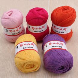 Wholesale Yarn Knitting Bamboo - 5pcs lot 50g Soft Warm Knitting Knitted Yarn Wool Cashmere Handcraft Yarn Worsted Sweater Soft Bamboo&Cotton Skein