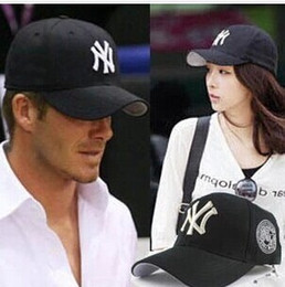 Wholesale Ny Black Hip Hop Cap - Baseball Cap NY Embroidery Letter Sun Hats Adjustable Snapback Hip Hop Dance Hat Summer Outdoor Men Women White Black Navy Blue Visor I4429