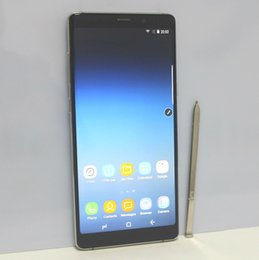 Wholesale Black Russian - 6.3 Inch Full Screen Fingerprint Goophone Note 8 Quad Core MTK6580 Android 7.0 1GB RAM 8GB ROM 1280*720HD 8MP Camera 3G WCDMA Unlocked phone