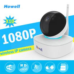 Wholesale Camara Ip Wifi - Howell Wholesale 10pcs 1080P Wifi IP Surveillance Camera 10m Night Vision Baby Monitor IP Cam Home Security LED Night Light Camara Babyphone