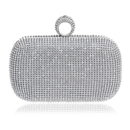 Wholesale Black Clutch Studded - 2016 diamond-studded evening bag evening bag with a diamond bag women's rhinestone banquet handbag day clutch female 3 Color