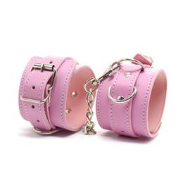 Wholesale Hogtie Cuffs - Leather Sexy Handcuffs Fetish Harnesses Hogtie Bracelet BDSM Bondage Algemas Eroticas Juguetes for Couples Sex Cuffed Menottes