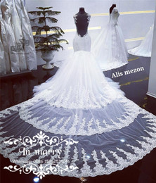 Wholesale See Through Wedding Skirts - 2017 Full Lace Mermaid Wedding Dresses Detachable Cathedral Train Sexy V Neck See through Backless Beaded Sequins Plus Size Bridal Gowns
