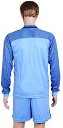 Wholesale Men Mix Color Shirt - 2017 Soccer Jerseys Uniform Club Team Long Sleeve Man City Jersey Home Blue Color Size S-XL Mix Match Order Customs Jersey Shirts And Shorts