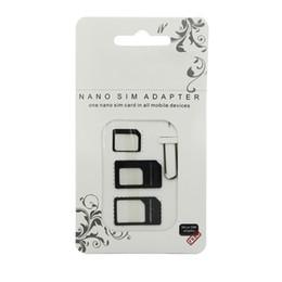 Nano carte sim en Ligne-4 en 1 NOOSY 3 Adaptateurs Nano SIM vers Micro SIM Adaptateurs de carte SIM standard pour iPhone 5 5S Iphone 4 4S Iphone 6 Samsung Galax S3 S4 S5 HTC un