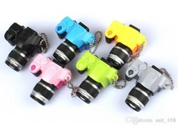 Wholesale Toys Keychain Camera - Male and female cFree shipping wholesale gift shoot camera LED sounding keychain light-emitting element photographic studio promotion prizes
