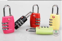 Wholesale Tsa Metal Locks - DHL Free TSA lock Customs Luggage Padlock TSA338 Resettable 3 Digit Combination Padlock Suitcase Travel Lock