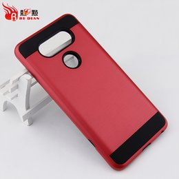 Wholesale G3 Hard Case - Hard PC Soft TPU Shockproof Armor Case for LG G3 G4 G5 G6 V20 K10 Dual Protective Cases for iphone 8