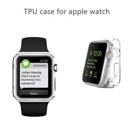 Wholesale Clear Crystal Bags - For Apple Watch Case Ultra Thin Slim Crystal Clear Transparent TPU Cover Case For AppleWatch 1 2 3 38mm 42mm Opp bag package