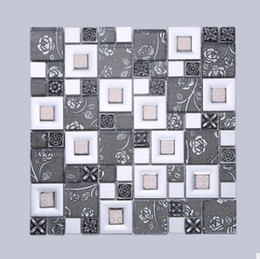 Wholesale Crystal Glass Tiles Wholesale - Hot new crystal glass mosaic tile tile Buddha TV background wall shelf D-966