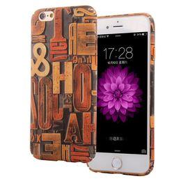 Wholesale Vintage Style Iphone Cases - 3D vintage retro case for iphone 5 5S SE 6 6S plus floral vanity wood style paint pc smart cell phone case