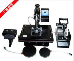 Wholesale Cap Sublimation - Free shipping 4 in 1 Tshirt Mug Cap Plate Combo heat press machine,Heat press,Sublimation machine,Heat transfer machine