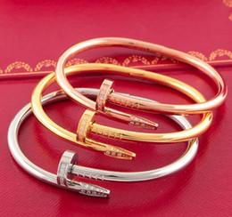 Wholesale Bracelet Jewelry Love Crystal - Jewelry Love Bracelet Bangles 316L Titanium steel Luxury Classic Bracelets Screwdriver Pulseiras love Screw Bangle