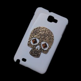Wholesale Skull Galaxy Note Cases - Hard Back Case Cover for Samsung Galaxy Note I9220 N7000, Retro Vintage Bronze Metallic Skull Skeleton Punk Rivet Stud Protective Skin Shell