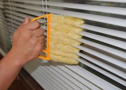 Wholesale Vertical Blinds Windows - New Arrive Vertical Window Blinds Brush Cleaner Mini 7 Shape Hand Held Window Brush Pinceis Novelty Households Cleaning