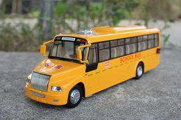 Modelo de Ônibus de liga, Amarelo Ônibus Escolar Brinquedos, Alta Simulação com Som, Cabeça Luzes, Kid 'Presentes, Coleta, Decoração de Casa, Frete Grátis de