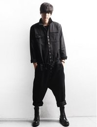 Wholesale Jumpsuit Harem Overall - Men's casual fashion jumpsuits han edition of the new spring overalls runway looks conjoined straps trousers   custom