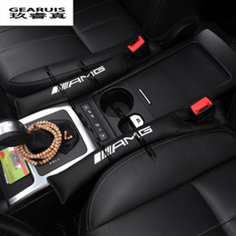 Wholesale Mercedes Benz Car Accessories - wholesale  2pcs AMG logo Car Seat slot plug auto interior accessories dedicated to For Mercedes Benz GLK GLA E class New C classSlit strip