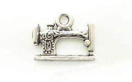 Wholesale Sewing Machine Silver Charms - 100Pcs Sewing machines Pendant Antique silver Fit Bracelets Necklace DIY Metal Jewelry DIY Charm Pendant 2016 Hot Sale