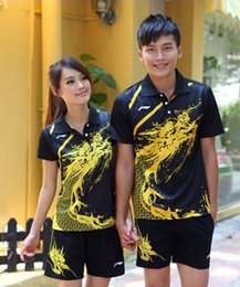 Wholesale T V Table - Li Ning badminton table tennis men's clothes short sleeve T-shirt +shorts