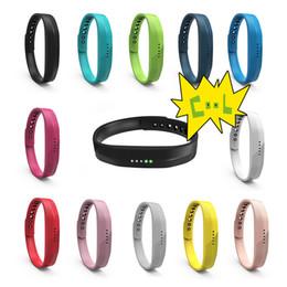 Giorni di traccia online-Cinturino in morbido cinturino da polso in silicone sportivo per Fitbit Flex 2 Polsino per il fitness da pista Smart Activity
