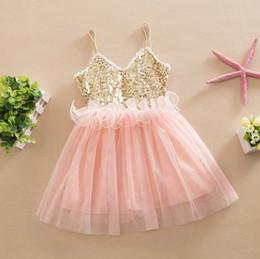 Wholesale Girls Pleated Dance Skirt - Wholesale baby girls sequined skirts chidlren slip tutu dresses kids sequin princess dance dress Dhl fast ship free