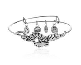 Wholesale Alex Ani Feather - European and American style retro hot Alex and Ani Phoenix Feather Phoenix Feather charm bracelet HJIA233