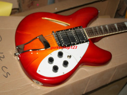 Wholesale Hollow Body Guitar Pickups - Cherry Burst 12 Strings 325 330 Electric Guitar 3 Pickups High Quality Musical instruments