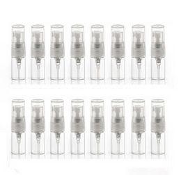 Wholesale Sample Spray Perfume Bottles - Factory price MINI Clear Glass 2ml Atomizer bottle Pump Refillable Perfume Fine Mist Spray Empty Bottle Sample Vial