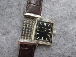 Wholesale Watches Hours Men - REVERSO MEN WOMEN QUARTZ WATCH WRISTWATCH 1000 HOURS CONTROL NICE BIRTHDAY GIFT